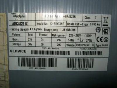 Как узнать год выпуска холодильника Whirlpool