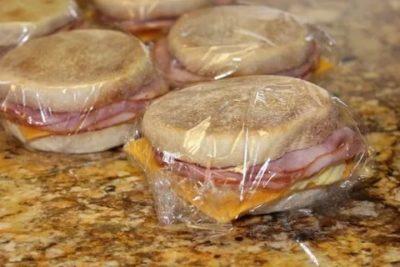 Можно ли заморозить бутерброды