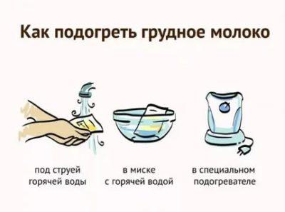 Как правильно размораживать грудное молоко