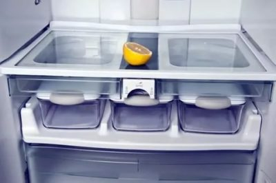 Как помыть холодильник лимоном