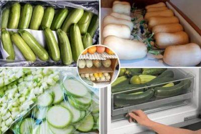Сколько хранится вареный кабачок в холодильнике