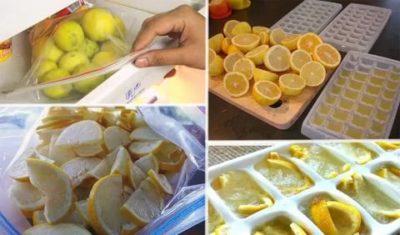 Можно ли заморозить лимон с сахаром