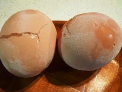 Что будет если заморозить вареное яйцо