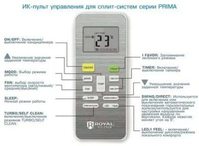 Что означает TEMP на пульте кондиционера
