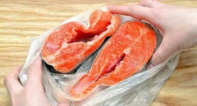 Как быстро разморозить рыбу стейки