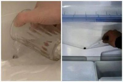 Как прочистить дренажную систему в холодильнике