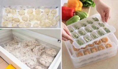 Как хранить в морозилке домашние пельмени