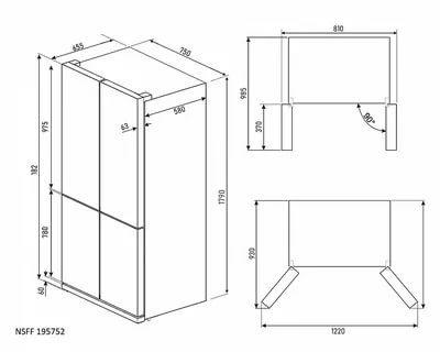 Какие стандартные размеры холодильников
