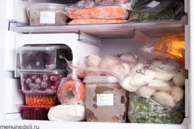 Какие заготовки можно хранить в морозилке