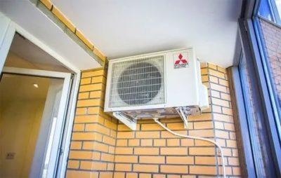 Можно ли установить внешний блок кондиционера на балконе