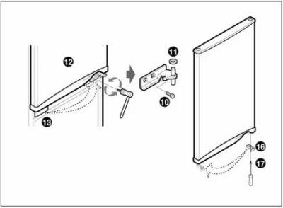 Как снять дверь с холодильника Атлант