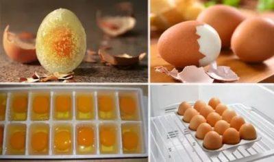 Как правильно заморозить вареные яйца