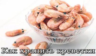 Сколько хранятся готовые креветки в холодильнике