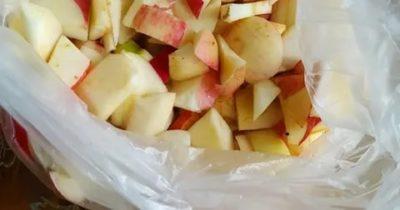 Как правильно заморозить яблоки