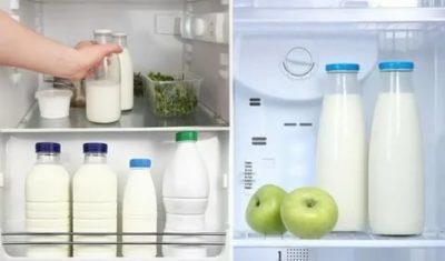 В чем хранить молоко в холодильнике