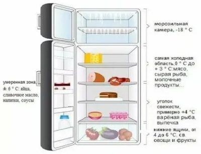 Какая температура должна быть в холодильной камере холодильника