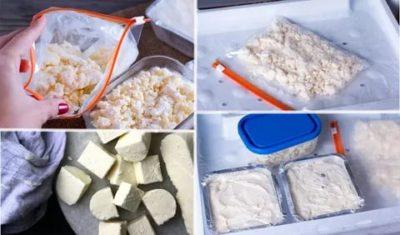 Как правильно хранить творог в холодильнике