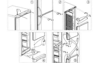 Как переставить дверь на холодильнике