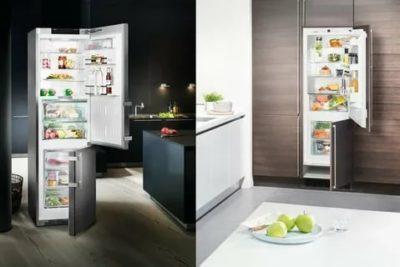 Чем встраиваемый холодильник отличается от обычного